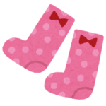 患者様のハデな靴下
