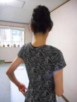 素敵なTシャツが似合います!後姿も美しく見せるために努力を惜しまない!努力をしている患者様