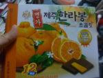 韓国のオレンジチョコレートをいただきました!